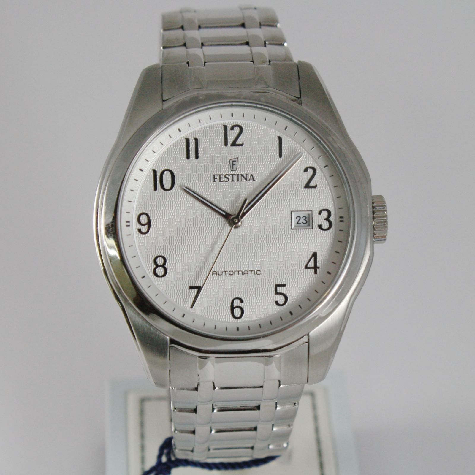 FESTINA WATCH AUTOMATIC MIYOTA MOVEMENT 21 JEWELS WHITE 44 MM CASE DATE 10 ATM