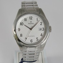FESTINA WATCH AUTOMATIC MIYOTA MOVEMENT 21 JEWELS WHITE 44 MM CASE DATE 10 ATM image 1