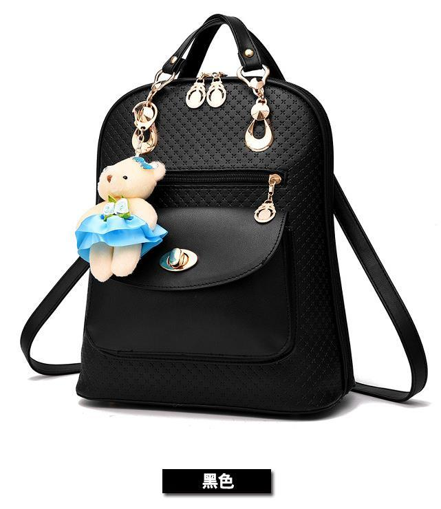 Mixed Color Students Bookbags Leather Women Fashion Backpacks B129-1 image 4