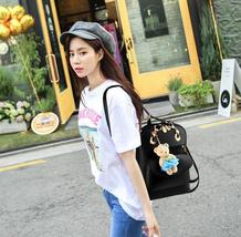 Mixed Color Students Bookbags Leather Women Fashion Backpacks B129-1 image 5