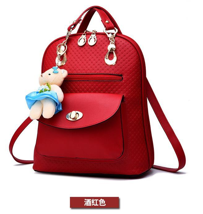 Mixed Color Students Bookbags Leather Women Fashion Backpacks B129-1