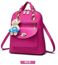Mixed Color Students Bookbags Leather Women Fashion Backpacks B129-1 image 7