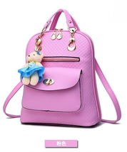 Mixed Color Students Bookbags Leather Women Fashion Backpacks B129-1 image 2