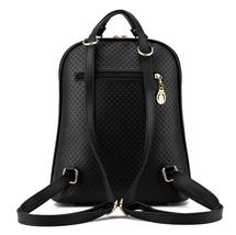 Mixed Color Students Bookbags Leather Women Fashion Backpacks B129-1 image 11
