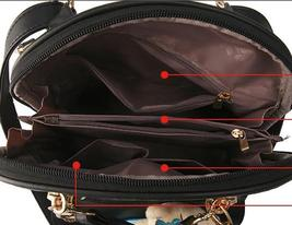 Mixed Color Students Bookbags Leather Women Fashion Backpacks B129-1 image 13