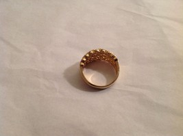 NEW Geranium Gold Toned Ring With Many Swarovski Clear Elements Size 10 image 3