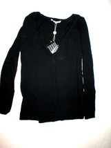 Womens 6 New NWT L'Autre Chose Italy Designer Top Black 42 Long Sleeve C... - $119.20