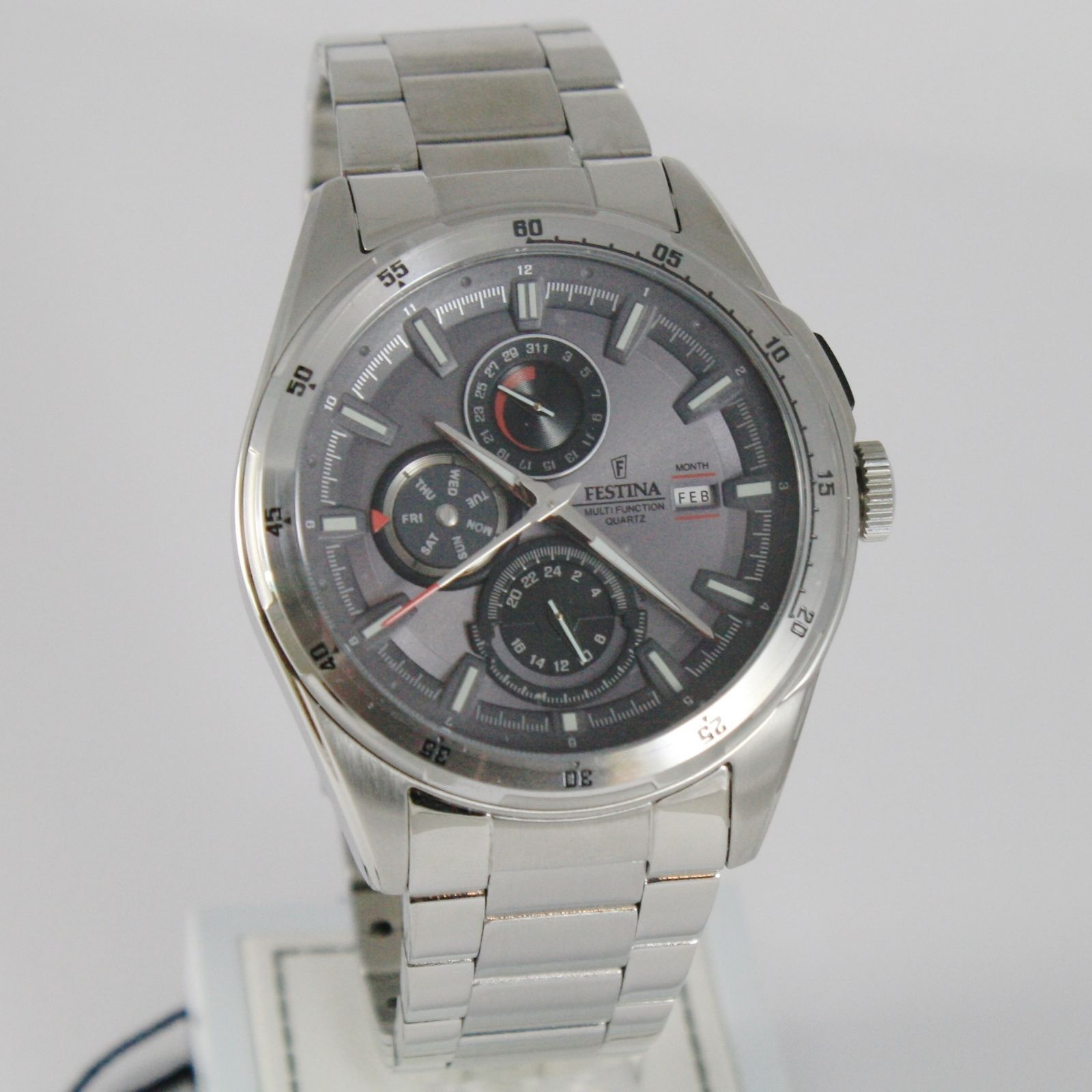 FESTINA WATCH, QUARTZ, 43 MM CASE, 5 ATM, DATE DAY MONTH 24 HOURS MULTIFUNCTION