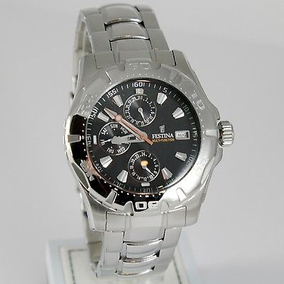FESTINA WATCH, QUARTZ, 44 MM CASE, 10 ATM, DATE DAY MONTH 24 HOURS MULTIFUNCTION