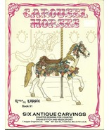 Carousel Horses Cross Stitch Pattern Book Kappi... - $9.98