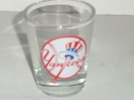 New York Yankees Shot Glass Baseball Liquor Drink Unisex Adult Clear NFL  - $17.95