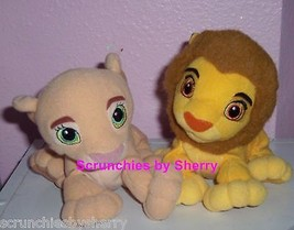 Disney Lion King Simba  Plush Toys Bean Bag Stuffed Animals Lot of 2 - $15.97