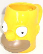 Homer Simpson Coffee Mug Figural Collector Yellow The Simpsons TV Show - $39.95
