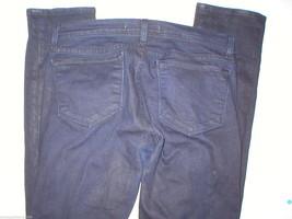 New J Brand Jeans Pencil Leg 29 30 X 32 Skinny Stretch Dark Womens Venom Coated image 3