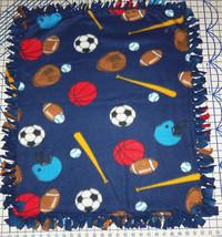"Sports Fleece Baby Blanket Football Baseball Basketball Pet Lap 30"" x 24... - $39.95"
