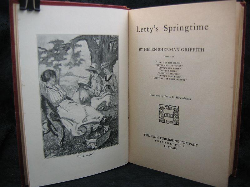 Letty's Springtime by Helen Sherman Griffith 1923 Penn Publ