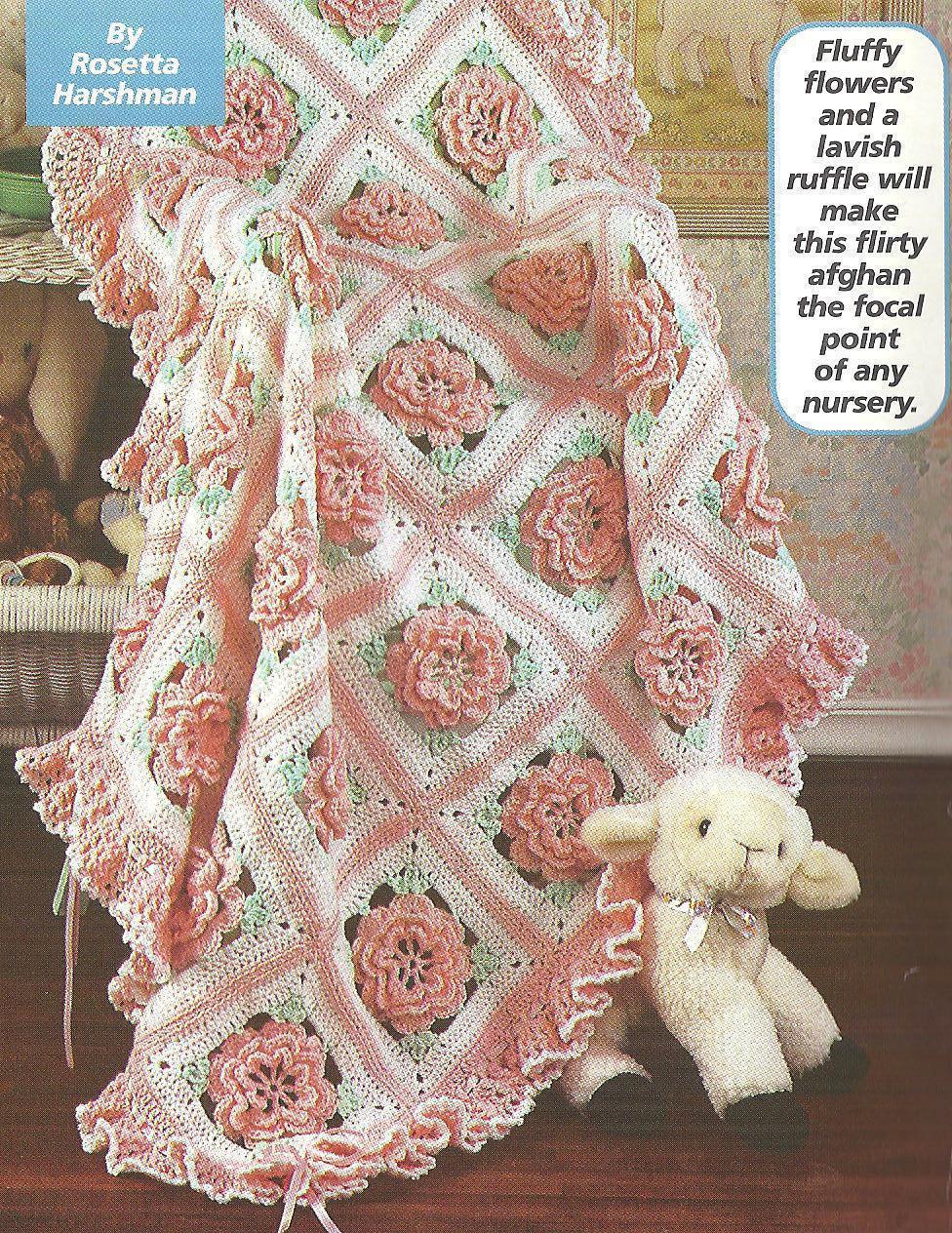 Ruffles & Roses Baby Afghan~ Crochet and 26 similar items