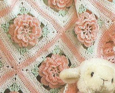 Ruffles Roses Baby Afghan Crochet And 26 Similar Items
