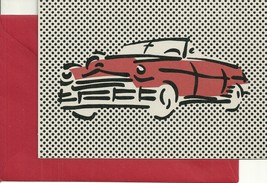 Vintage EARLY 1950's CHEVY Hallmark Signature Embossed Blank Greeting Card - $2.99