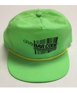 Vtg Graybar Code Hat Neon Green Fast Accurate Checkout Glendale Heights ... - $19.15