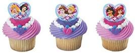 Disney Princess Jewel Heart Cupcake Poly Pics. 24 Count Cupcake Toppers - $8.86