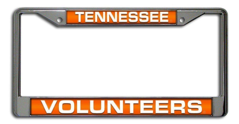 TENNESSEE VOLUNTEERS CAR AUTO LASER MIRROR CHROME LICENSE PLATE TAG FRAME NCAA