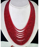NATURAL CERTIFIED RED SPINEL RUBY BEADS ROUND 9 LINE 732 CTS GEMSTONE NE... - $17,100.00