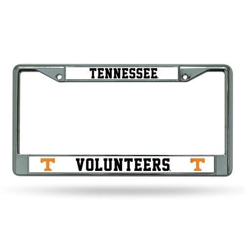TENNESSEE VOLUNTEERS CAR AUTO CHROME METAL LICENSE PLATE FRAME NCAA UNIVERSITY