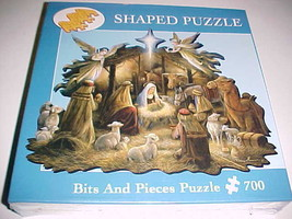 """Bits Pieces Puzzle 700 In The Manger 20"""" x 27"""" Shaped Ruane Manning 2005 New - $24.74"""