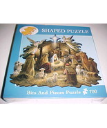 """Bits Pieces Puzzle 700 In The Manger 20"""" x 27"""" Shaped Ruane Manning 2005... - $24.74"""