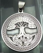 Pendant Celtic Tree of Life Amulet Jewelry 925 sterling silver (c428) Bi... - $37.62