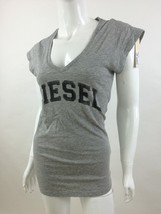 Diesel New Women's T-Portula Short Sleeve Top T-Shirt Size XXS  Color Grey - $28.54