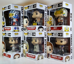 Funko POP STAR WARS The Force Awakens Wave 3 Set of 6 w/ Exclusives Poe ... - $86.99