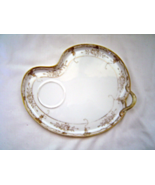 Vintage China Handled White and Gold Snack Pla... - $14.95