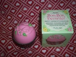 MIB Vintage Mod 1970s Avon Pink Bon Bon Cologne Decanter Cupcake Mint in... - $15.00