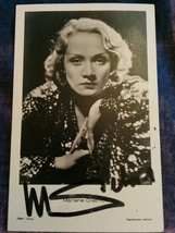 Marlene Dietrich Hand Signed Autograph With Lifetime Guarantee - $120.00