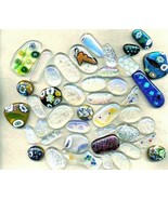 Dichroic Fused Glass Cab Lot - $9.96