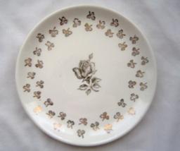 Vintage White and Gold Saucer Gold Rose and Shamrocks - $9.99