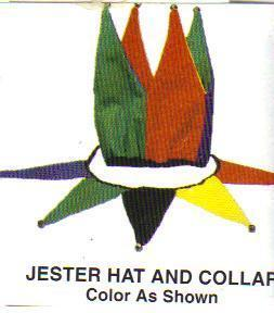 JESTER HAT and COLLAR WITH BELLS