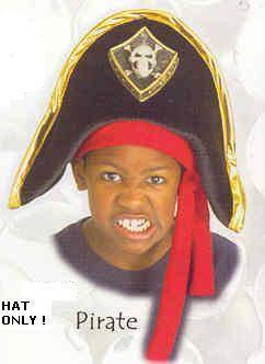 HAT Child's VELVET PIRATE with SCARF