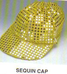 GOLD SEQUIN DOT BALL CAP ONE SIZE FITS MOST