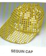 GOLD SEQUIN DOT BALL CAP ONE SIZE FITS MOST - $7.00