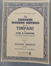 Gardner Modern Method for Timpani - Gardner - $12.00