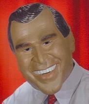 GEORGE W. BUSH VINYL MASK FULL OVER THE HEAD - $35.00