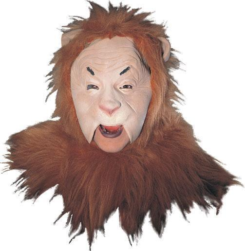COWARDLY LION LATEX & FUR CHARACTER MASK