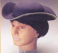 COLONIAL TRICORNER HAT WITH SILVER TRIM ONE SZ - $12.00