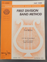 First Division Band Method Book 3 - Clarinet - by Weber - $8.50