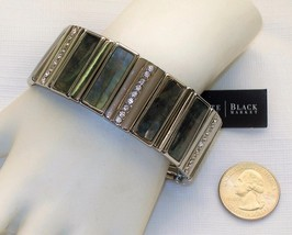 White House Black Market Silver-Tone Stretch Br... - $24.75