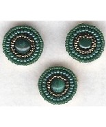 Malachite Beaded Button Covers 2 - $10.00