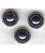 Hematite Beaded Button Covers 3 - $12.05